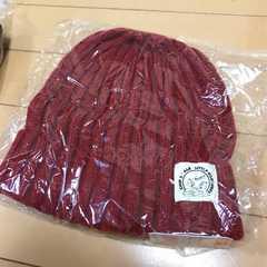 新品◆チップ&デール◆ニット帽◆56〜58cm赤レッド◆帽子