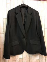 新品☆17号シンプル黒のジャケット☆テーラード☆s917
