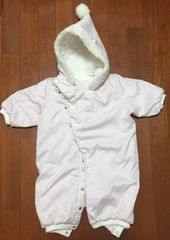 女の子赤ちゃん☆フード付ピンクコート上着