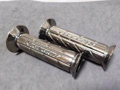 ZRX400 ネオ クロームグリップ 新品 ゼファー400 ジェイド250