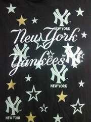 野球 メジャーリーグ ニューヨーク ヤンキース 半袖 パーカー ブラック Lサイズ スター アメリカ
