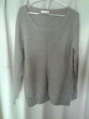 Mew's グレー ニットセーター(長袖)