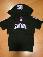 ★LOVEJUNKIE★NYロゴショートパーカーベア�Aセット★