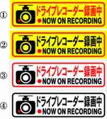 ドライブレコーダー録画中 15センチ 2枚組