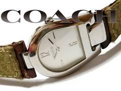 極希少 1スタ★コーチ COACH 馬蹄型【シグネイチャー】腕時計