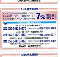 ☆ANA 優待 スカイホリデー/ハロー/ワンダーツアー7%引11月