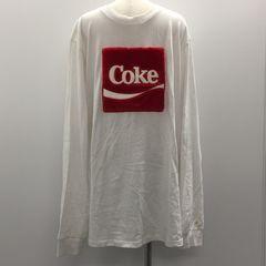 【GENKINGオク】JOYRICH × Coca Cola ファー ロゴ入りロンT XL