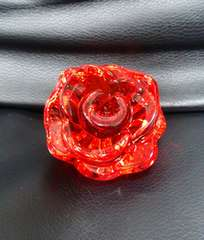 新品*アクリルアイス*バラの花*クリスタル*赤*フィギュア