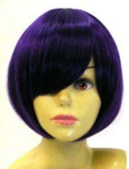 即納☆耐熱☆即決 フルウィッグ ショートボブ2 紫/パープル D4