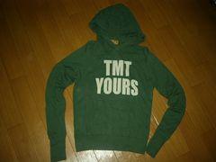 TMT YOURSロゴパーカーS緑系BIG3薄手ティーエムティー