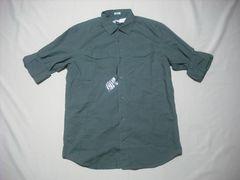 90 男 CK CALVIN KLEIN カルバンクライン 緑 長袖シャツ Mサイズ