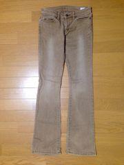 ブラウンデニムブーツカット未使用シンプル使えるジーンズパンツ