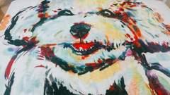 犬 ラグマット キッチンマット カラフル