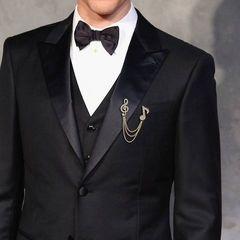 BIGセール590円★超人気 スーツに似合う音符記号ブローチ金