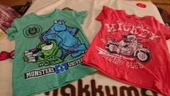 110�a☆Tシャツ2枚セット☆モンスターズインク&ミッキー