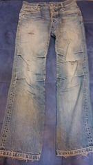 ジャンポール・ゴルチェ、メンズデニムパンツ、サイズ48w76
