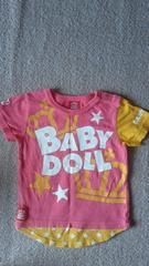 ベビードールスター柄pinkTシャツ