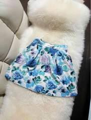 雑誌搭載花柄フレアスカート