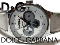 極レア 1スタ★ドルガバ/D&G【クロノグラフ】ゴツい大型 腕時計