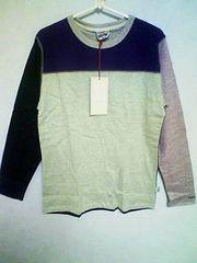 Aー381☆新品☆<Sale>メンズ長袖キレイ系カラフルTシャツ ミント M