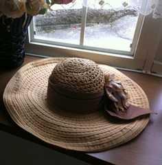 グレースコンチネンタル★フラワーブレードハット帽子
