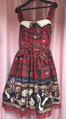 angelic pretty- british bear ジャンパースカート