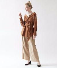 titivate/リネンVネックオーバーシャツ/今期/人気