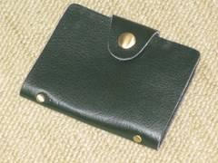 未使用☆レザー調カードケース*26ポケット*ダークグリーン