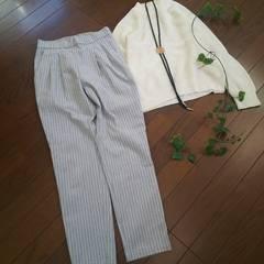 〇LEPSIM LOWRYS FARM〇春ストライプテーパードパンツ*・゜