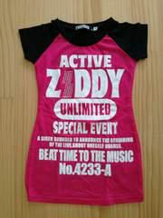 ZIDDY ☆Tシャツ☆120☆ショッキングピンク♪