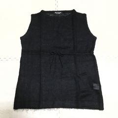 【美品】モヘア混ノースリーブざっくり編みニット/黒/NICE CLAUP