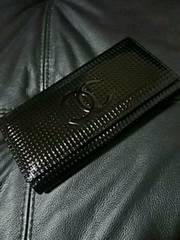 衝撃!限定正規シャネル高級エナメル長財布バッグ美品黒一点限り!