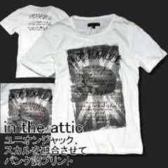 【in the attic】スカル&ユニオンジャックフォトプリントTシャツ