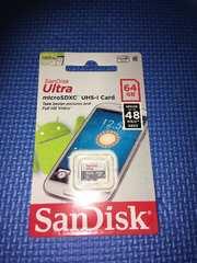 未開封 SanDisk Ultra microSDXC UHS-I Card 64GB
