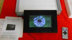 箱入り動作品フォトフレーム7インチリモコン付SD,MMUSB