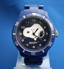 スヌーピープラベルトウォッチ-snoopy腕時計NV