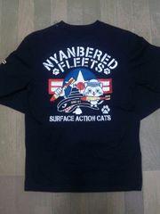 ☆訳アリ新品[クールドライブストライカー]ネコ&アメリカ海軍 長袖Tシャツ スカジャン好きも