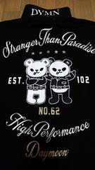 セール 新品[DAYMOON]悪友パンダ&クマ刺繍半袖ポロシャツ  スカジャン好きにも