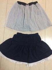 dolly ribbon☆インナーパンツ付きスカート&裾レーススカート
