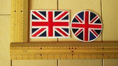 NO.32 アイロンワッペン 2枚セット イギリス 国旗