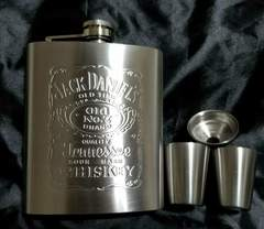Jack Daniel's ジャックダニエル スキットル セット ステンレス