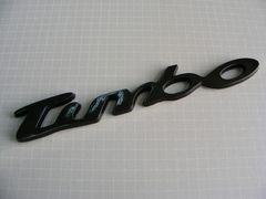 ●TURBO ターボエンブレム ブラックカラー仕様 新品●