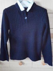 衿付きセーター取り外し可能で2通りのデザイン/送料500円