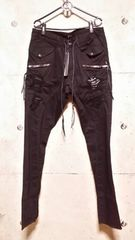 KMRIIケムリ COTTONSPANDEX CRUSH ENGINEER DROP TWILL PANTS 3
