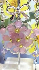 本物のお花*ピンクウィンティーが咲くガーデンネックレス