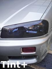Tint+水洗→再利用OK スカイライン R34クーペ ヘッドライト スモークフィルム