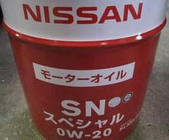 日産 エンジンオイル SNスペシャル 0W-20 20L