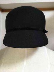 美品 THE FIRST キャスケット帽 ブラック キャップ