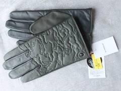 新品タグ付◆ジバンシイ◆手袋◆タッチパネル対応◆羊革深緑×黒◆24cm
