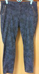 大きいサイズ GAP 花柄パンツ ブルー ウエスト79 レディース